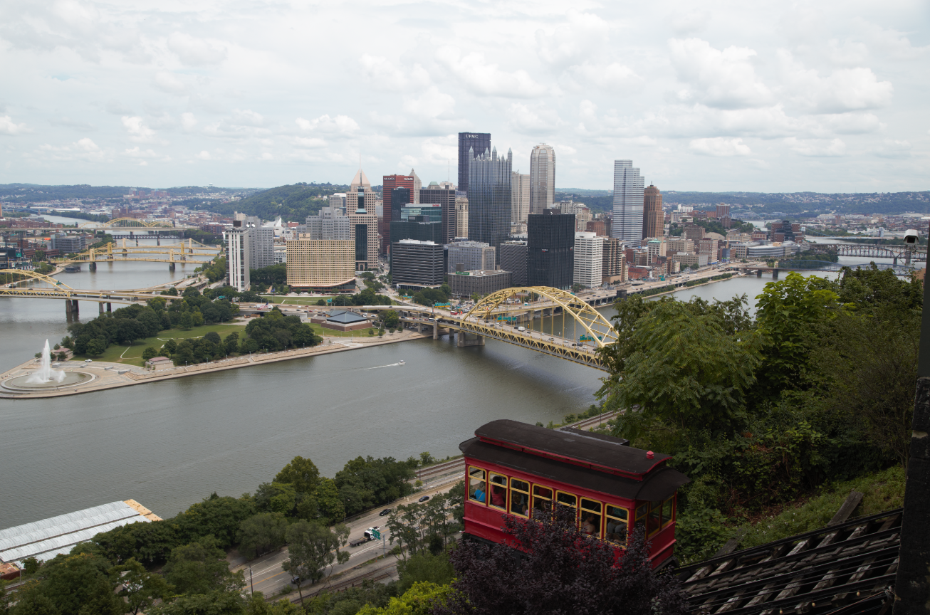 The View From An Overlook Near Duquesne Incline On Pittsburgh S Mount Washington Is One Of Two Remaining Funiculars In A City That Used To