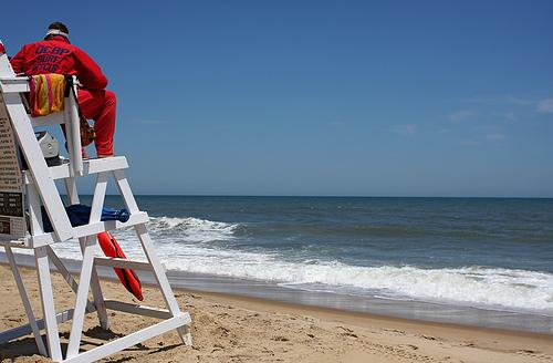 OCEAN CITY, Md. U2013 (AP) Lifeguard Chairs In Ocean City Are Being Buried,  Toppled And Thrown Out To Sea.