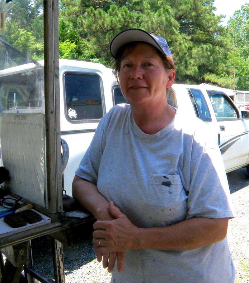 Tammy Croxton, who buy's Ida Hall's crabs