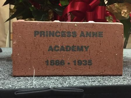 This brick will be installed on Morgan's quad