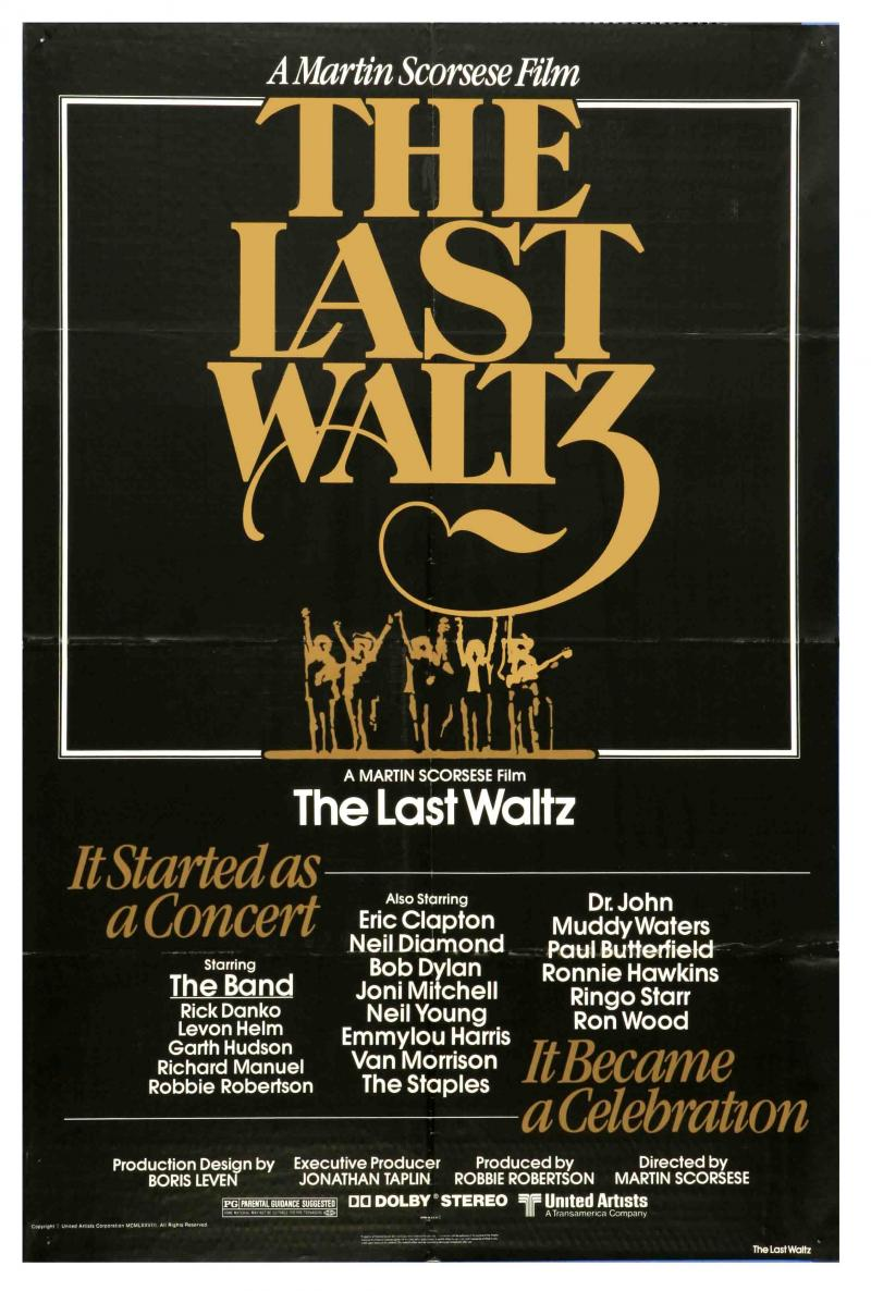 "The Band ""The Last Waltz"" poster"