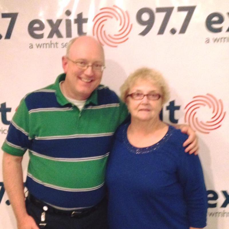 Chris Wienk with Wanda Fischer of WAMC
