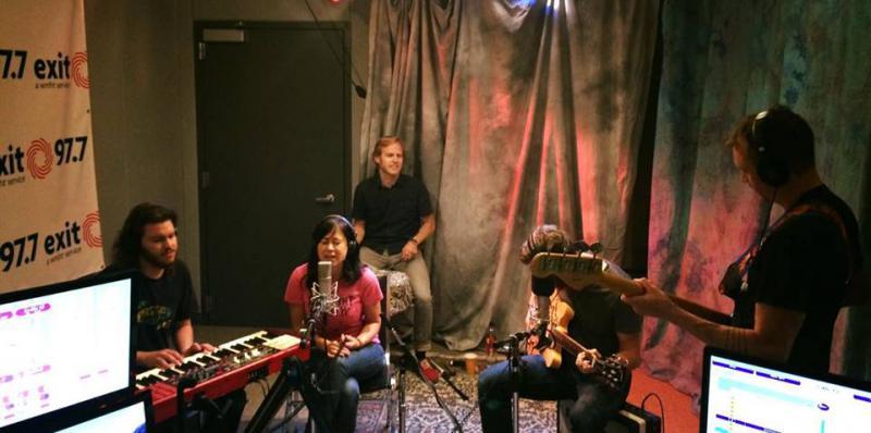 Midnight North in studio
