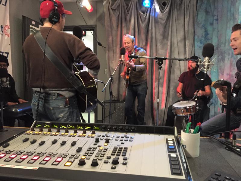 JD McPherson performing in studio