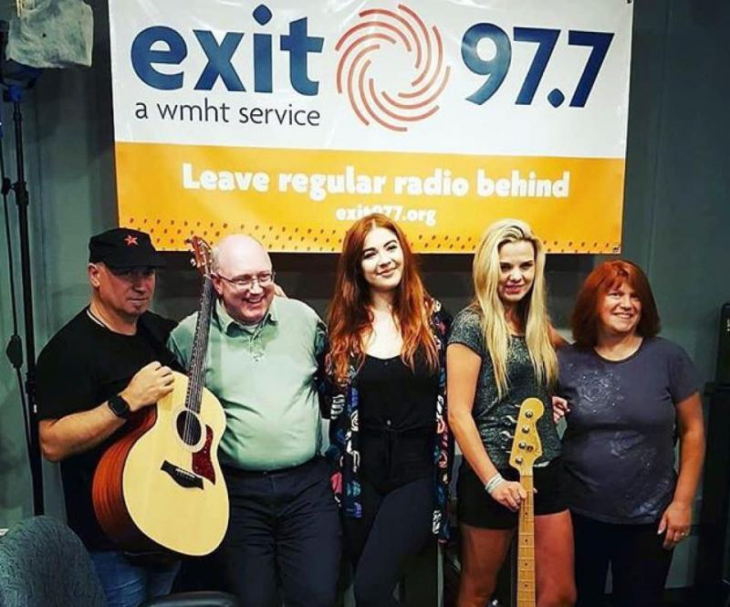 ILONA with her band, Joyce and Chris