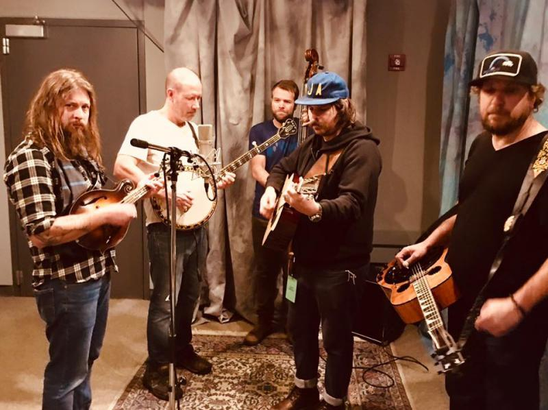 Greensky Bluegrass plays in our studio