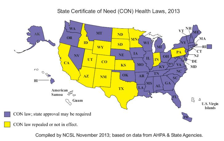 con states certificate need state programs laws health care map acronym nc without facilities obamacare ways legislatures conference credit national