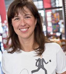 Amy Aussieker, Owner of FABO art gallery and coffee bar