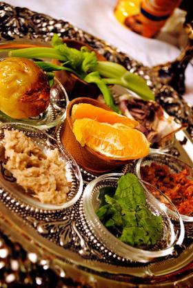 Seder plate.