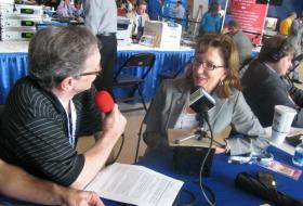 Sen. Kay Hagan in an earlier interview with Charlotte Talks' Mike Collins.