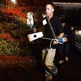 Three days after Paula Broadwell of Charlotte emerged at the center of national controversy, FBI agents spent four hours Monday night searching her family's Dilworth home.