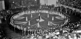 The North Carolina Debutante Ball at Memorial Auditorium in Raleigh, 11 Sept. 1938. Courtesy of North Carolina Office of Archives and History, Raleigh.