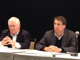 Jack Hawke and Pat McCrory