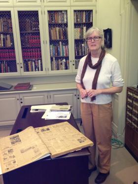 Davidson College archivist Jan Blodgett.