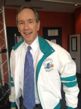 Mike dug through his closet and dusted off his (very '80s) Charlotte Hornets jacket to talk about the possibility of switching the Bobcats name back to the Hornets.