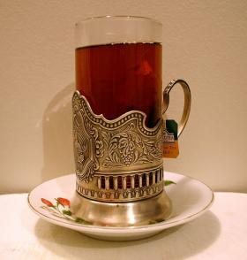 Russian tea glass.