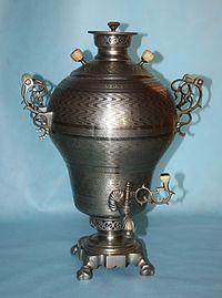 Samovar, an old-style tea drinking vessel.