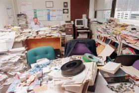 Can you see your desk through all the STUFF?