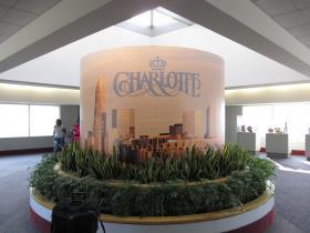 Inside Charlotte Douglas Airport.