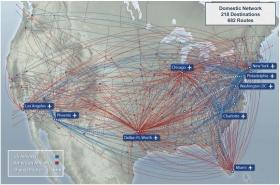 Only 12 of the airlines' routes overlap.