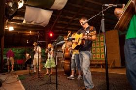 Musicians perform at the Ole Time Fiddler's & Bluegrass Festival held in 2011 at Fiddler's Grove.