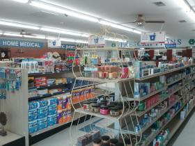 Medi-Fare Drug Center in Blacksburg, S.C., has a front end that resembles most drug stores.