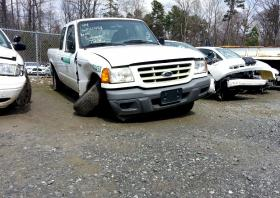 Even totaled cars get auctioned. Rex Dye predicts that, despite the damage, this pickup truck will go for nearly the price of an undamaged vehicle, because the engine remains intact.