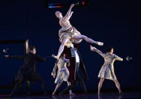 "North Carolina Dance Theatre performs Jiri Bubenicek's ""L'heure bleue"" as part of its ""Contemporary Fusion"" concert, an eclectic evening of dance."