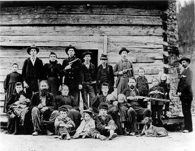 The Hatfield Clan of the Hatfield-McCoy feud circa 1897.