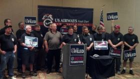 U.S. Airways mechanics held a press conference in South Charlotte to announce that they filed to hold an election today to join the Teamsters. An election will be held later this summer, pending approval from the National Mediation Board.