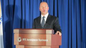 President & CEO, UTC Propulsion and Aerospace Systems, Alain Bellemare delivered remarks during the grand opening.