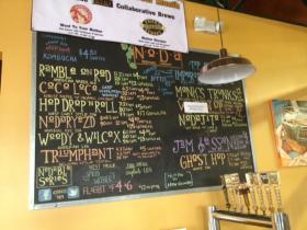 The board at NoDa Brewing Company