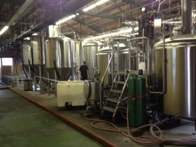 The NoDa Brewing Company brew house