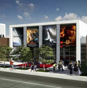 Studio Charlotte Development's Gateway and Cinema Theater on Central Avenue rendering.