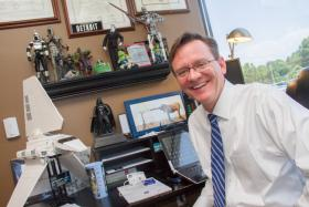 Dr. Frank Gaskill in his office at Southeast Psych.