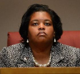 Commissioner Kim Ratliff during Tuesday's meeting.
