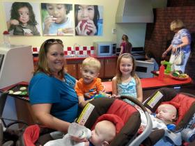 Many families - like the Holdens from Charlotte - visit Discovery Place Kids in Huntersville several times a week.
