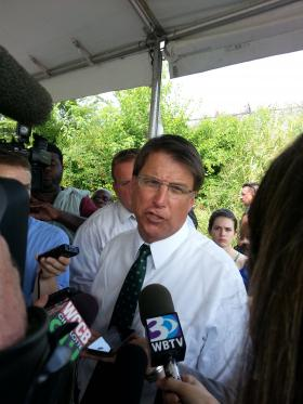 Governor Pat McCrory told reporters in Charlotte on Thursday morning he didn't think a last-minute compromise would prevent the airport authority legislation from passing.
