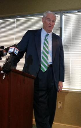 Former Charlotte Mayor Richard Vinroot is the attorney representing former airport director Jerry Orr and the embattled commission created by state lawmakers to run the airport.
