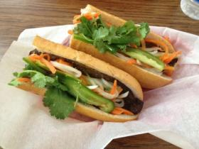 The Banh mi at Le's Sandwich & Cafe is an old favorite for some and a new find for others. Grilled pork topped with cilantro, jalapenos, daikon and carrots on a fresh baguette.