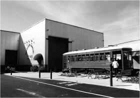 The historic trolley's route started on the backside of Atherton Market. Today the trolley 'carbarn' is a popular farmer's market.