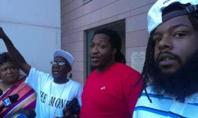 The Charlotte-Mecklenburg Police Department named Wendell McCain (in red) and Cordell Blair (far right) as defendants in their injunction against the Hidden Valley Kings that prohibit them from being next to each other.