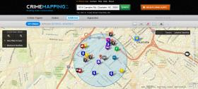 A search for crimes in the past week near Price's Chicken Coop brings up this result on CMPD's new crime mapping system.