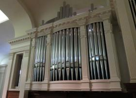 The new organ at Providence United Methodist Church in Charlotte spent the first forty years of its life at the Kennedy Center in Washington, D.C.
