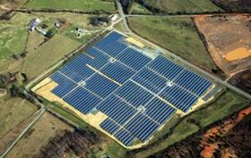 Strata Solar's solar farm in Kings Mountain, in Cleveland County.