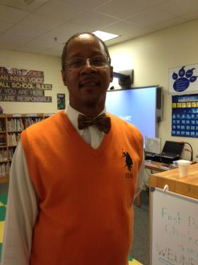 Fourth and fifth grade teacher Amory Brown at Druid Hills Academy