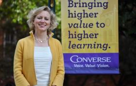Converse College president Betsy Fleming announced the school would reduce tuition by 43 starting next year.