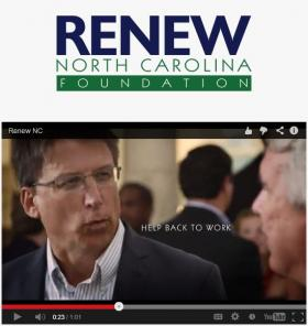 The McCrory ad on Renew North Carolina Foundation's website.