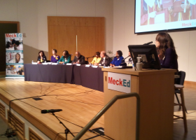 Twelve candidates for CMS school board participate in a forum moderated by WFAE's Lisa Miller.