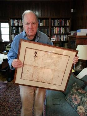 Former South Carolina Congressman John Spratt has a map from 1781 showing land owned by his forefather Thomas Spratt that formerly belonged to the Catawba Indians.